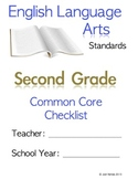 Second Grade (2nd Grade) CCSS ELA Checklist and Report Document  Common Core