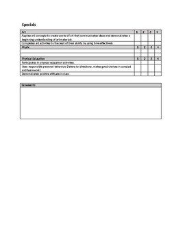Second Grade 2nd Standards Based Report Cards