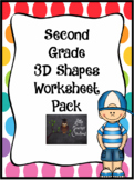 Second Grade 3D Worksheets Packs