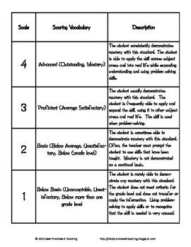 Second Grade 4-Point CCSS Language Arts Rubrics and Record Sheets