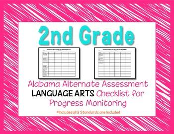 Second Grade AAA Language Arts Checklist Progress Monitoring