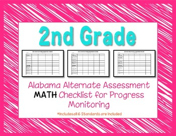 Second Grade AAA Math Checklist Progress Monitoring