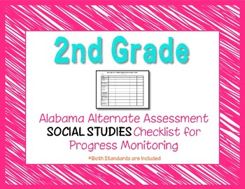 Second Grade AAA Social Studies Checklist Progress Monitoring