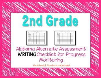 Second Grade AAA Writing Checklist Progress Monitoring