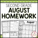 SECOND GRADE HOMEWORK | AUGUST