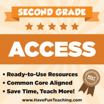Second Grade ACCESS Sample - 1 WEEK OF TEACHING RESOURCES