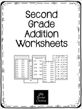 Second Grade Addition Packet