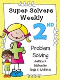 Second Grade Additon & Subtraction Problem Solving Single/