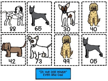 """Second Grade """"Anytime"""" Dog Themed Math Centers"""