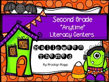 """Second Grade """"Anytime"""" Halloween Themed Literacy Centers"""
