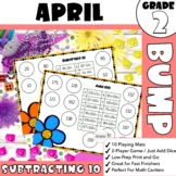 Second Grade April BUMP Math Game - Mentally Add and Subtract 10 or 100
