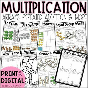 Second Grade Multiplication and Arrays Unit