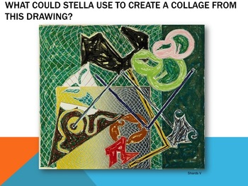 Elementary Art Lesson 2nd: Frank Stella Abstract Art Collage & Marzano DQ