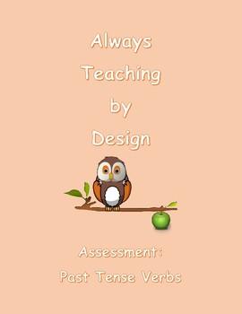 Second Grade Assessment Past Tense Verbs