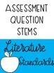 Second Grade Assessment Question Stems