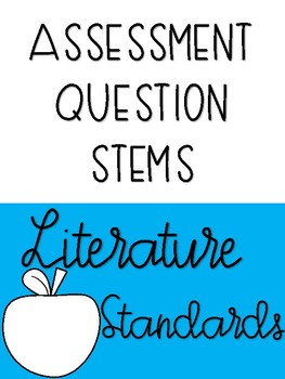 Second Grade Assessment Question Stems
