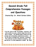 Second Grade Autumn Passages and Comprehension Questions