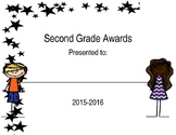 Second Grade Award Cover