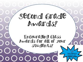 Second Grade Awards FREEBIE