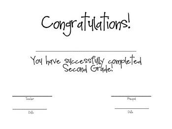Second Grade Awards/Certificates