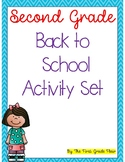 Second Grade Back to School Activities Printable & Digital -Distance Learning