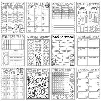 Second Grade Back to School Booklet