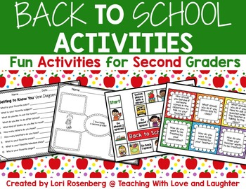 Back to School Activities for Second Graders