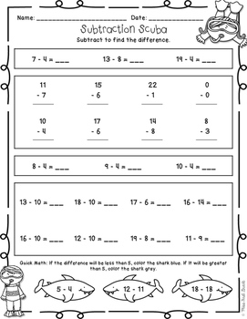 Second Grade Back To School Math Review Printables By Miss