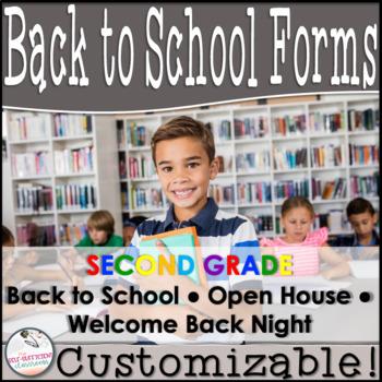 Editable Open House Parent Packet- Second Grade