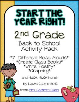 Second Grade Back to School Activity Pack - Start the year right!