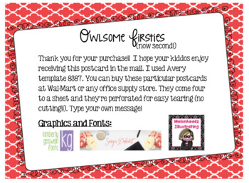 Second Grade Back to School Postcard (First Grade is so Last Year!)