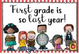 Second Grade Back to School Postcard (First Grade is so La