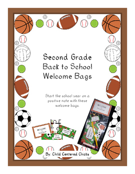 Back to School Welcome Bags Second Grade - Sports Theme