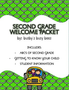 Second Grade-Back to School- Welcome Packet-EDITABLE