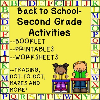 Second Grade Back to School Worksheets Booklet Printables Activities