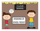 Second Grade Beginning of Year Pack