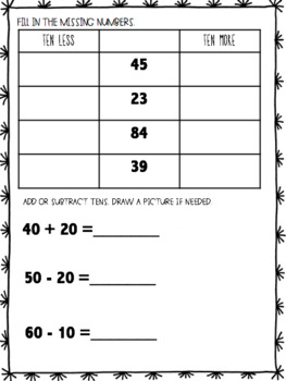 Second Grade Beginning of the Year Math Assessment