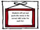 Second Grade Benchmark Literacy Spelling ABC Order/Word Work