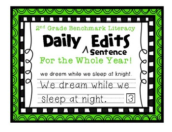 Second Grade Benchmark Literacy Writer's Workshop Daily Sentence Edits