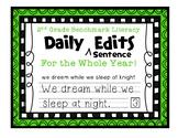 Second Grade Benchmark Literacy Writer's Workshop Daily Sentence Edits
