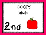 Second Grade CCGPS standards labels