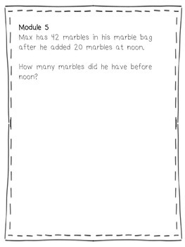 2015 Second Grade CCLS Math Modules 5-8 Application Problems