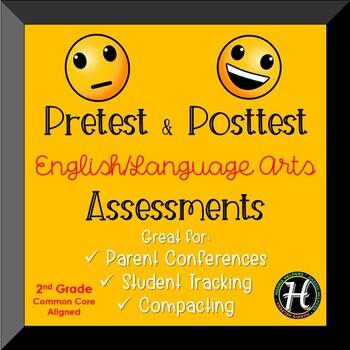 Second Grade CCSS ELA Pretest/Posttest Assessments