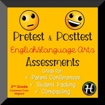 Second Grade CCSS ELA Pretest/Posttest Assessments