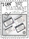 """Second Grade CCSS """"I Can"""" Statement Posters"""