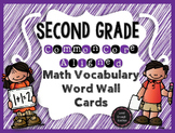 Second Grade CCSS Math Vocabulary Word Wall Cards