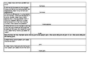 GO MATH Second Grade Chapter 5 Tier Groups Performance Task