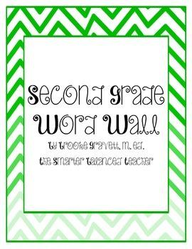 Second Grade Chevron Word Wall