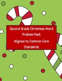 Second Grade Christmas Word Problem Pack - Aligned to Common Core