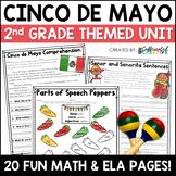 Cinco de Mayo Digital & NO PREP Printable Math and ELA Act